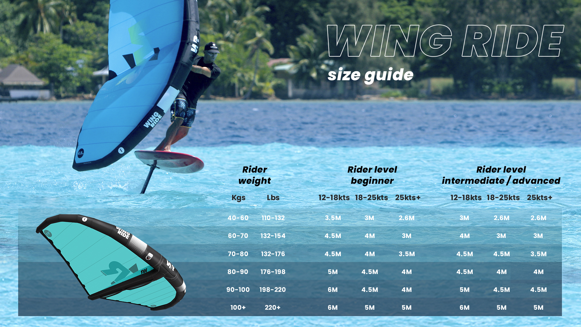 wing size guide